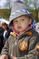 This cute boy is enjoying the festivities of the Bavarian Maibaumfest held in Putzbrunn, Germany.