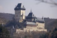 The elaborate 14th century Karlstein Castle in the Czech Republic is also known as the Castle of Czech Kings.