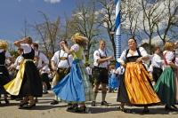 A group perform the moves during a dance routine in Putzbrunn, Germany.