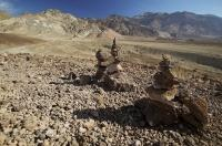 The arid landscape of the desert biome in Death Valley in California, USA.