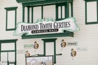 The gambling hall of Diamond Tooth Gerties is a popular Dawson City tourist attraction in the Yukon Territory of Canada