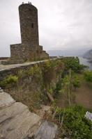 The Doria Castle in Vernazza on the Riviera di Levante in Liguria, Italy dates back to the middle of the 15th century.