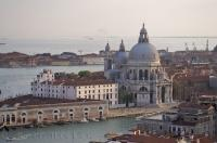 The Dorsoduro church known as Basilica di Santa Maria della Salute is one of the more famous churches in the city of Venice, Veneto in Italy, Europe.