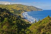 A hidden treasure along the East Coast of New Zealand's South Island, Gore Bay near Cheviot features a beautiful sandy beach lapped by the waters of the South Pacific Ocean.
