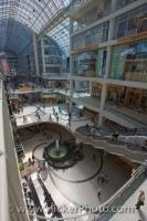 The architecture of Eaton Centre in downtown Toronto, Ontario has made this unique shopping centre a historical landmark.