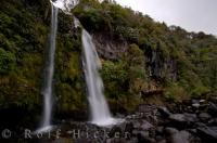 Egmont National Park Waterfall Taranaki New Zealand