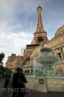 A picture of the Eiffel Tower replica at the Paris Las Vegas Hotel in Nevada, USA.