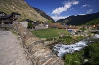 Espot village is located in the heart of the Riu Escrita valley in the Pyrenees in Catalonia, Spain in Europe.