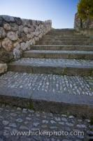 Stairs Design Stone Wall Guadalest Castle Spain