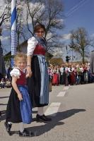 A girl from a small European village at the Maibaumfest in Putzbrunn, Southern Bavaria.