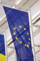 A symbol of unity between the nations of Europe, the European Union flag bears twelve golden stars which represent solidarity and harmony of the states.