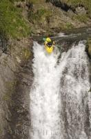 Waterfall running is an extreme and daring watersport.