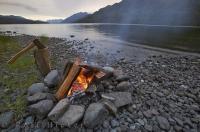 Camping around Nimpkish Lake is one of the most tranquil places to spend a holiday in British Columbia, Canada.