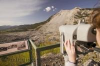 The Frank Slide Interpretive Centre explains some interesting facts abouts the slide and how Canada made history.
