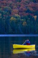 A great place for a weekend getaway or vacation during fall is Rock Lake in Algonquin Provincial Park, Ontario.
