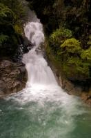 Fiordland National Park Waterfall Falls Creek Milford Road South Island New Zealand
