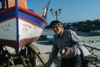 Greek Fishing Boat Fisherman