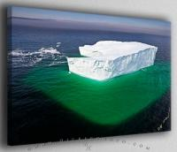 Floating Iceberg Dimensions Aerial