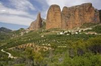 The foothill village of Riglos in Huesca, Aragon in Spain is the most important of the group of nine villages known as Las Penas de Riglos.
