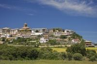 The fortress village of Berdun is situated at the beginning of the Valle de Anso in Huesca, Aragon in Spain.