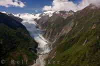 Franz Josef Glacier NZ Helicopter Tour Aerial Picture