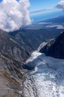 Franz Josef Glacier on the South Island of New Zealand is designated as a World Heritage Site.