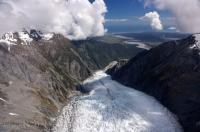 Franz Josef Glacier Aerial Photo