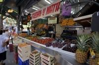 Fresh Fruit Stall Street Market Valencia Spain
