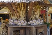 Fresh Garlic Market Stall Camargue France