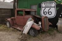 An interestingly funny sight along the Historic Route 66 in Seligman, Arizona, USA.