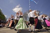 Dancing is one of the German traditions surrounding the Maibaum Festival.