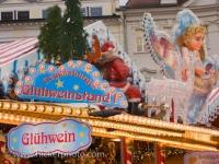 Gluehwein Stand Decorations Christmas Markets Regensburg Germany