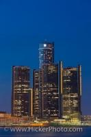 The GM Building located in Detroit Michigan can be seen from Canada in the city of Windsor Ontario, separated only by the Detroit River. This location is the only northbound crossing from Canada into the United States.