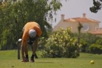Golf Ball Teeing Oliva Nova Golf Course Valencia