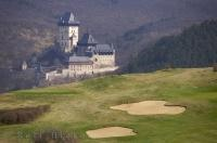A dream vacation to Europe would include a round of golf at the Karlstejn Golf Course and a trip to the historic Karlstein castle in the Czech Republic.
