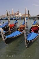 Gondolas Grand Canal Historic Vencie Italy