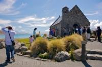 The Church of the Good Shepherd is located on the banks of Lake Tekapo on the South Island of NZ where the view from the windows is spectacular.