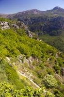 A stupendous view of the rugged Gorges du Loup can be afforded from the village of Gourdon in the Alpes Maritimes region of the Provence, France.