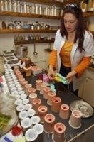 The Candle Making Workshop is part of the La Source Parfumee and Old Distillery in the village of Gourdon in the Provence, France in Europe.