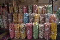The candy store in the village of Gourdon in the Provence, France in Europe has a variety of flavorful candy for sale.