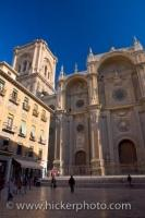 Granada Cathedral Facade Andalusia Spain
