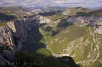 The breathtaking view of the Grand Canyon of Verdon in the Alpes de Haute of Provence in France.