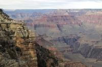 The famous river carved Grand Canyon in Arizona, USA, seen from the south rim.