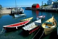 The charming Halls Harbour in Nova Scotia at high tide