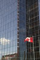 This Canadian flag was proudly displaying outside a building in downtown Hamilton, Ontario.