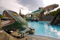 Hanmer Springs on the South Island of New Zealand is a great place for adults and kids as there are separate thermal pools with slides for the kids to enjoy.