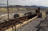 The remains of the Harmony Borax Works in Death Valley National Park of California, USA.