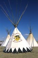 At the Siksika Pow Wow held in Alberta, Canada there are teepees set up for the healing centre that offers treatment for the members of the Siksika.