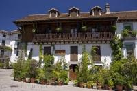 The quaint two in one hotel and restaurant situated in the village of Hecho in Huesca, Aragon in Spain.