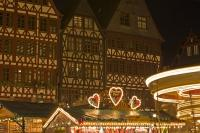 The beautiful Roemerberg (City Hall Square) is surrounded by historic architecture. During the advent period (leading up to Christmas) the square is the scene of the annual Christmas Markets.